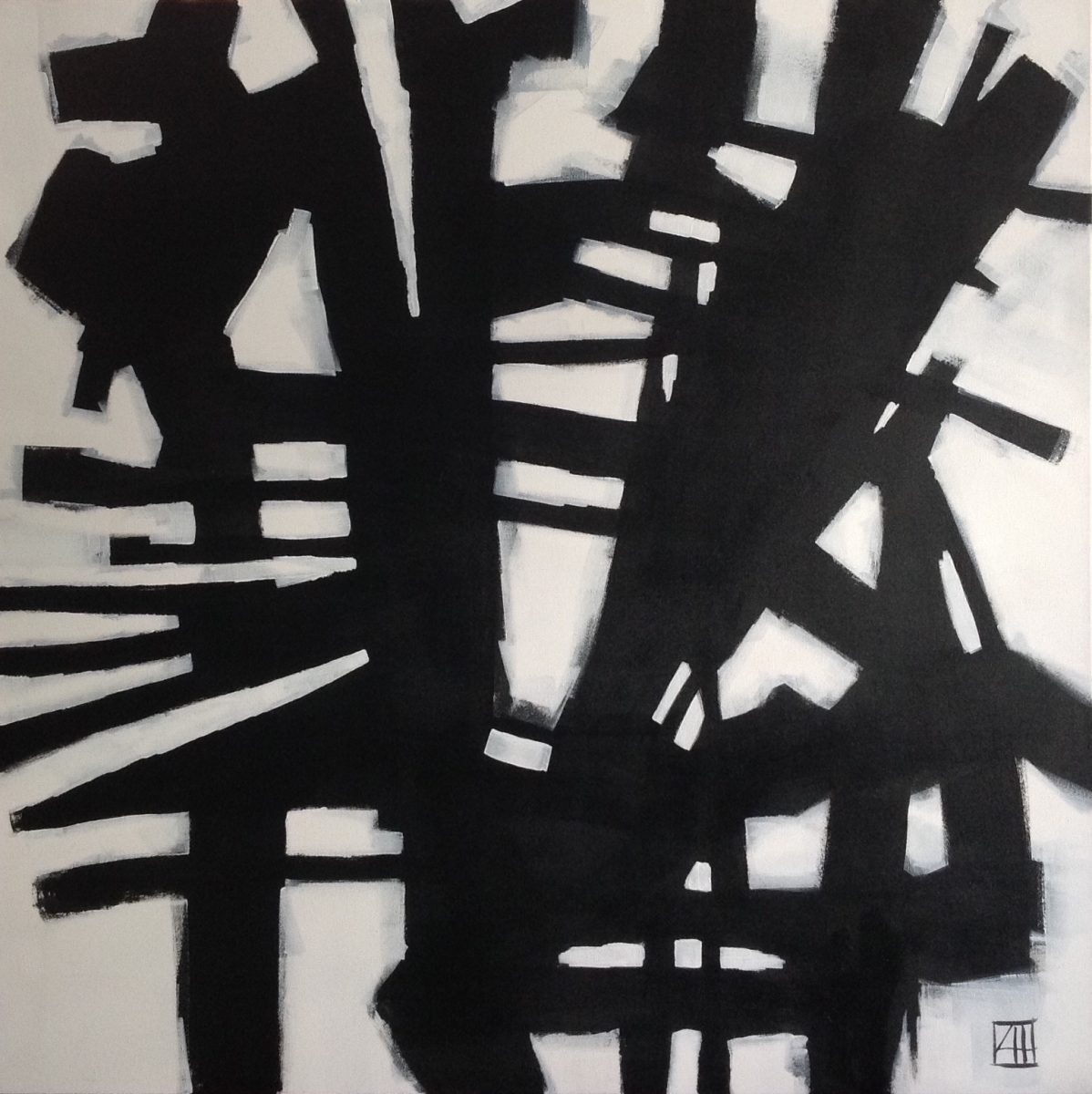 Louise Hennigs Black & White Abstract Paintings