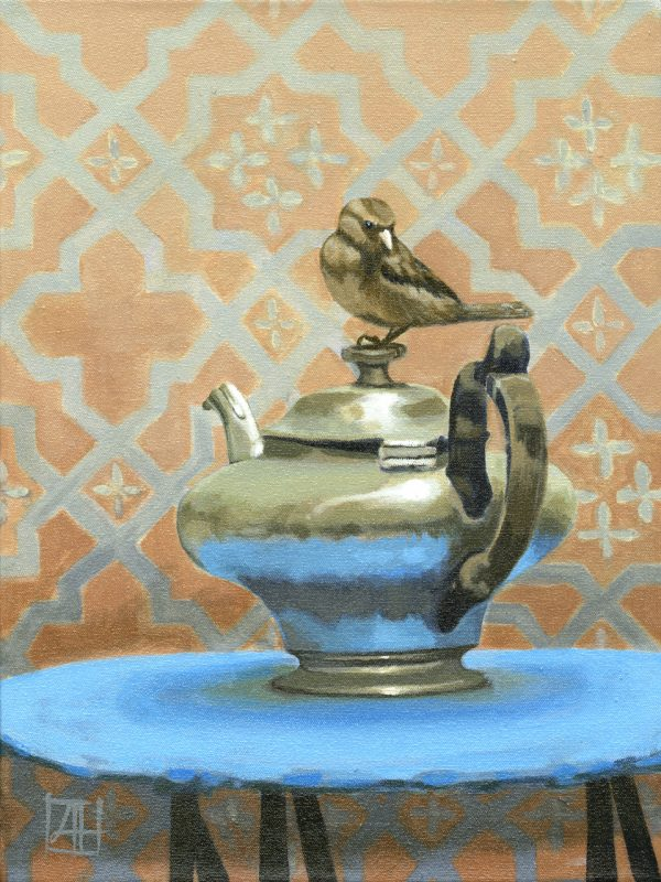 High Tea 'Tea Time in Luxor' acrylic on canvas 30x40cm by Louise Hennigs