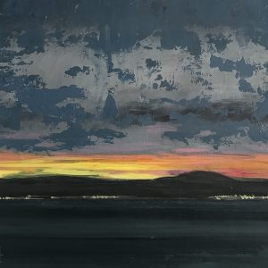 Landscape Nr 4 'That's How The Light Gets In' Acrylic on paper 25cm x 30cm by Louise Hennigs