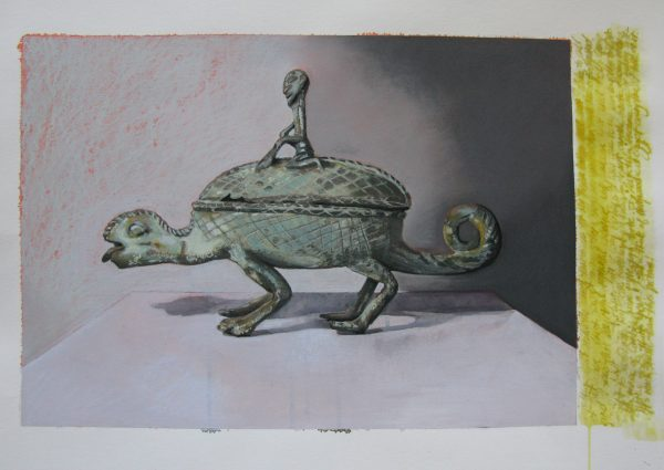 'Leviathan', mixed media on paper 64 x 43cm by Louise Hennigs