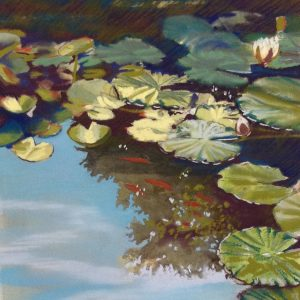 Pastel Painting 'The Pond' on paper by Louise Hennigs SOLD